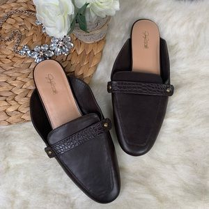 Jaclyn Smith Brown Mules 8M